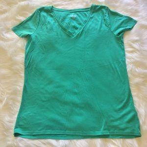💚Vibrant Green V-neck